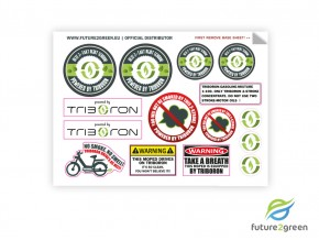 Triboron stickerset