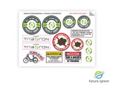 Triboron stickervel